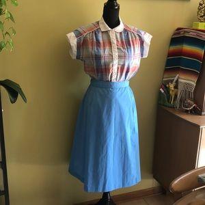 Dresses & Skirts - Vintage blue wrap adjustable skirt